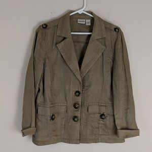 | Sale | Chico's • Lightweight Military Jacket